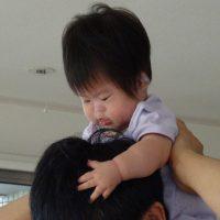 ダウン症児を肩車