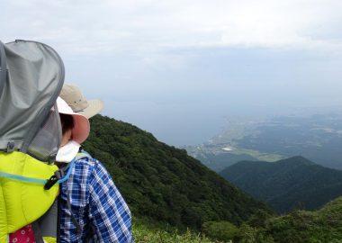 びわ湖バレイ山頂付近からの眺望