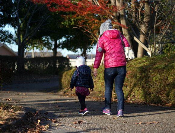 近所の公園を散歩