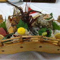 志摩ビーチホテルの料理・伊勢エビの造り