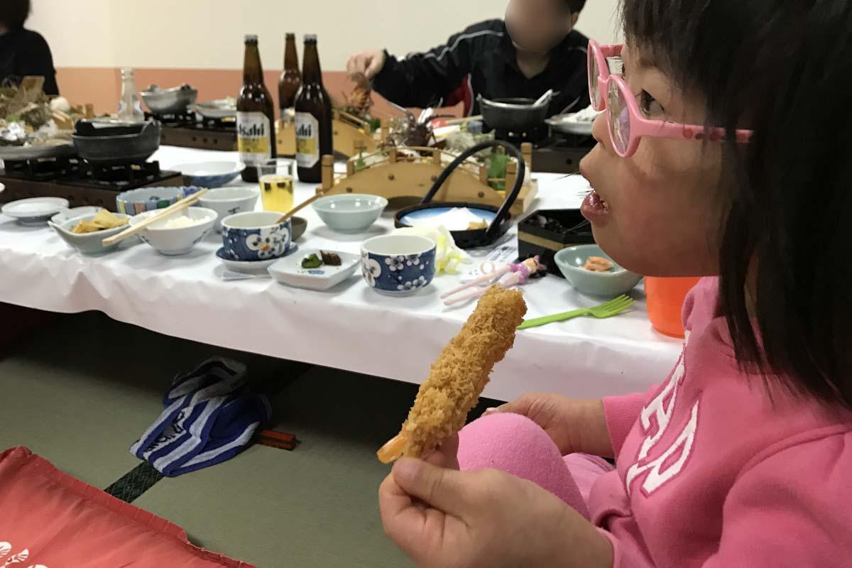 志摩ビーチホテルの料理・エビフライ