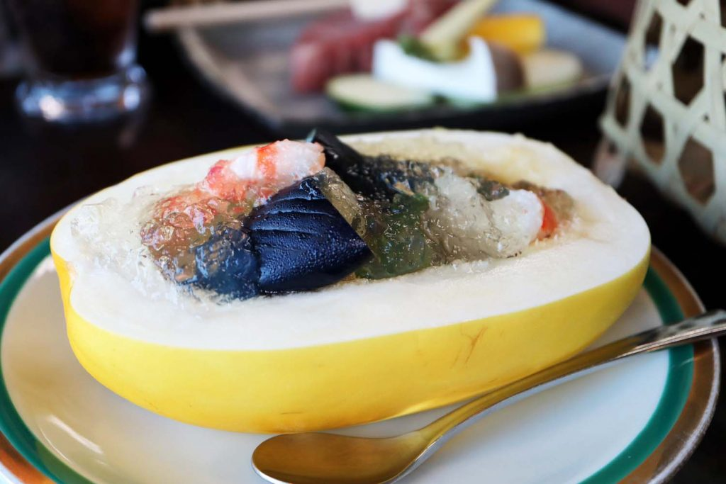 滝寺荘の夕食